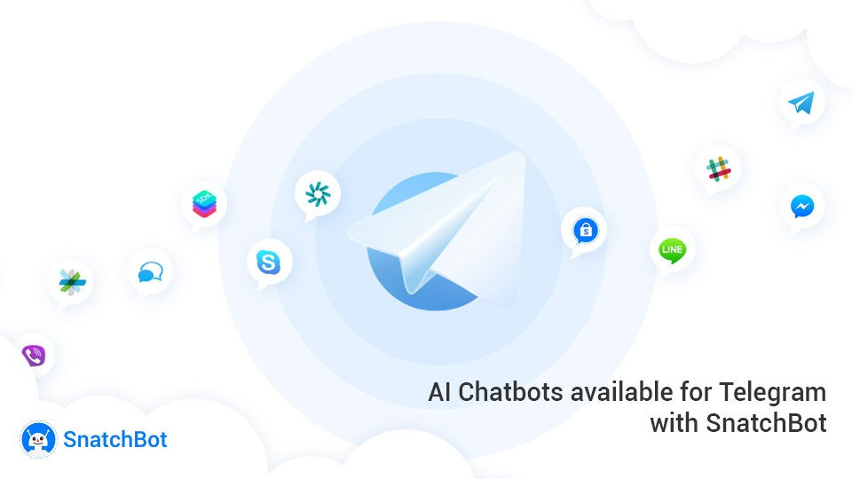 The best AI Chatbots are now available for Telegram with SnatchBot