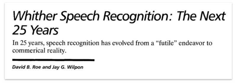 A Brief History of ASR: Automatic Speech Recognition Part 2