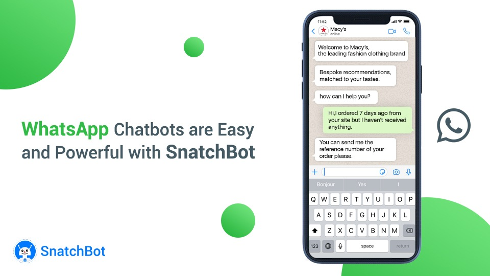 WhatsApp Chatbots are Easy and Powerful with SnatchBot